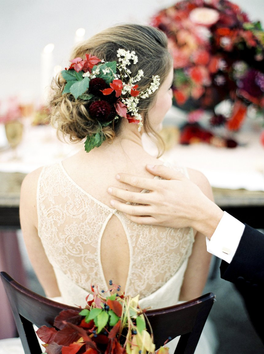 Autumn inspired wedding - couple photographed by Melanie Nedelko