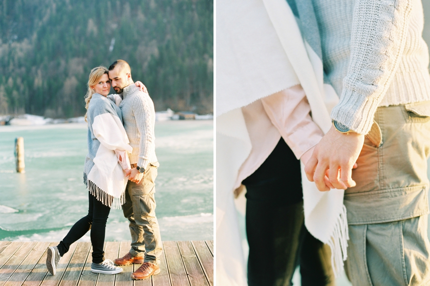 couple session at lake Weissensee , Carinthia