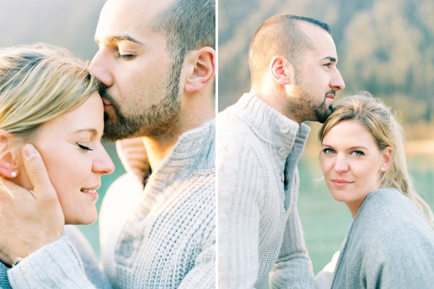 couple session at lake Weissensee , Carinthia ,