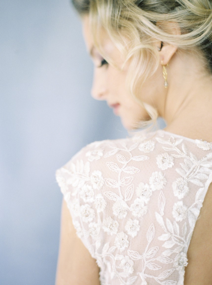 spring wedding inspiration , dress by Otaduy spain, bridal portrait